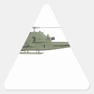 Adesivo Triangular Helicóptero de Apache no perfil da vista lateral