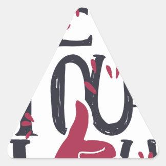 Adesivo Triangular Hey você eu te amo