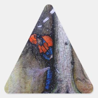 Adesivo Triangular Husqvarna do stihl do cirurgião de árvore do