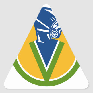 Adesivo Triangular Ícone do serviço de controlo de pragas da