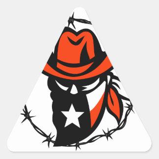 Adesivo Triangular Ícone foragido do fio de Barb da bandeira de Texas