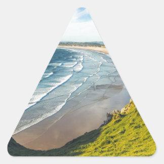 Adesivo Triangular Ideia cénico da paisagem contra o céu