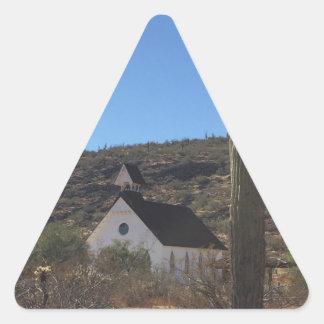 Adesivo Triangular Igreja ocidental velha