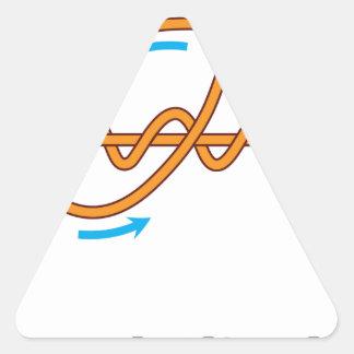 Adesivo Triangular ilustração mproved do diagrama do vetor do nó do