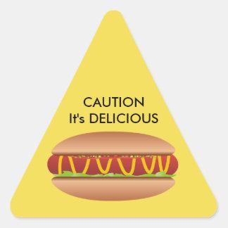 Adesivo Triangular Imagem do Hotdog