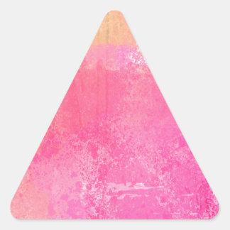 Adesivo Triangular Impressão da aguarela do Grunge da arte abstracta