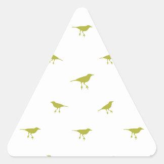 Adesivo Triangular Impressão da silhueta dos pássaros
