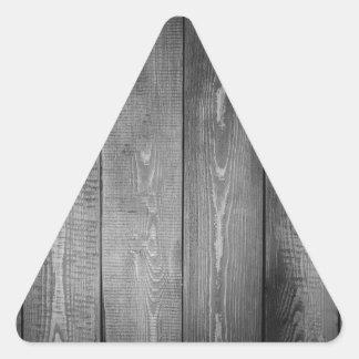 Adesivo Triangular Impressão de madeira preto e branco