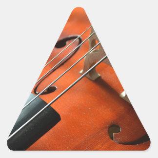Adesivo Triangular Instrumento amarrado cordas da madeira do