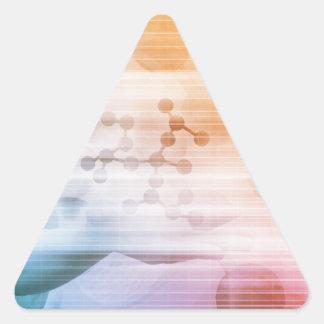 Adesivo Triangular Investigação e desenvolvimento com doutor Visão