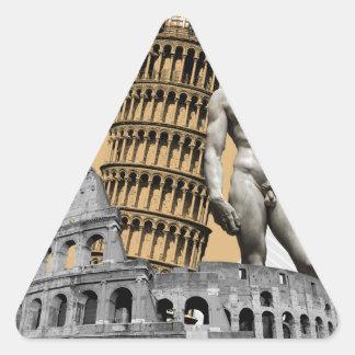 Adesivo Triangular Italia, a grande beleza