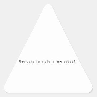Adesivo Triangular Italiano-Espada