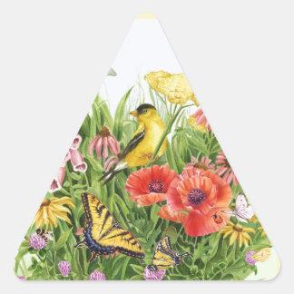 Adesivo Triangular Jardim do Goldfinch