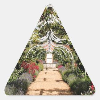 Adesivo Triangular Jardim inglês velho