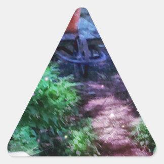 Adesivo Triangular Jardim secreto