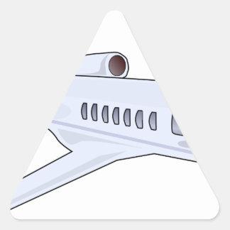 Adesivo Triangular Jato privado