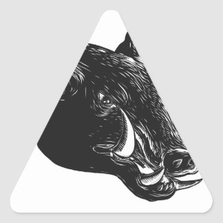 Adesivo Triangular Javali Scratchboard do Razorback