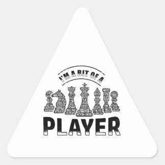 Adesivo Triangular Jogador de xadrez
