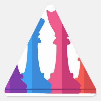 Adesivo Triangular Jogo de xadrez
