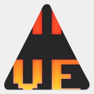 Adesivo Triangular Jogo sobre 8bit retro