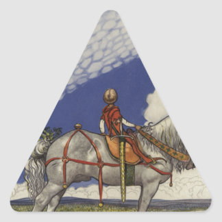 "Adesivo Triangular John Bauer - ""no mundo largo """