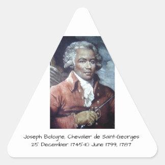 Adesivo Triangular Joseph Bologne, Cavaleiro de Santo-Georges