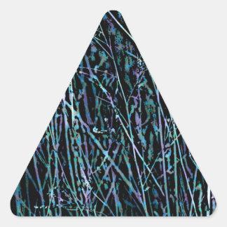Adesivo Triangular Juncos multicoloridos em azul e em roxo