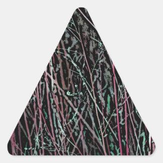 Adesivo Triangular Juncos multicoloridos no rosa e no verde