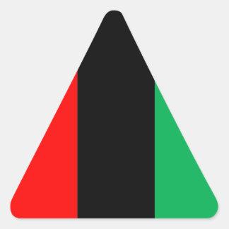 Adesivo Triangular Kwanzaa colore o teste padrão verde preto vermelho