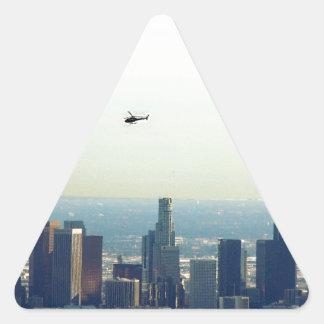 Adesivo Triangular LA e helicóptero