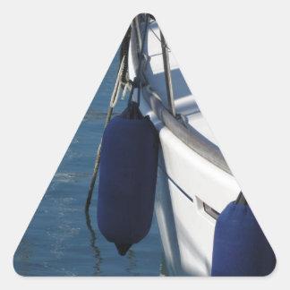 Adesivo Triangular Lado esquerdo do barco de navigação com os dois