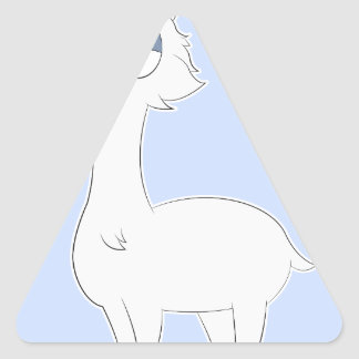 Adesivo Triangular Lama mal-humorado do gato persa