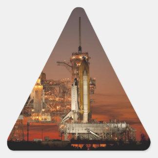 Adesivo Triangular Lançamento do vaivém espacial da NASA Atlantis