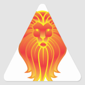 Adesivo Triangular Leão customizável do zodíaco de Leo do fogo