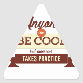 Adesivo Triangular Legal & impressionante Errando se aprende