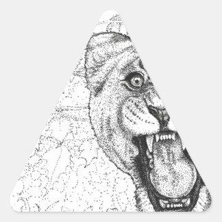 Adesivo Triangular Leoa