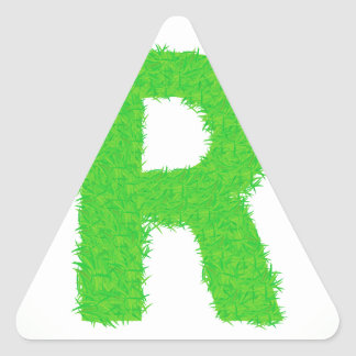 Adesivo Triangular letra da grama