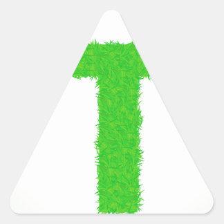 Adesivo Triangular letra verde