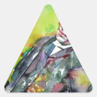 Adesivo Triangular LEWIS CARROLL - aguarela portrait.2