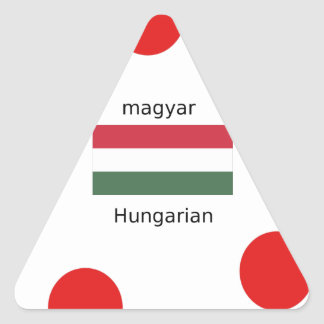 Adesivo Triangular Língua de Hungria e design da bandeira