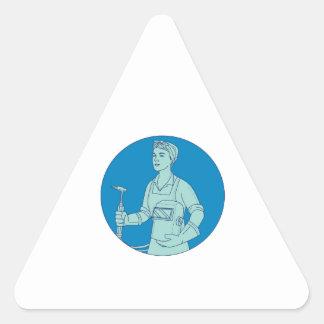 Adesivo Triangular Linha fêmea da tocha de soldadura do acetileno do