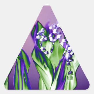Adesivo Triangular Lírio do vale na lavanda