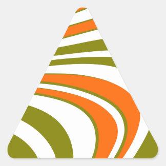 Adesivo Triangular Listras curvy abstratas