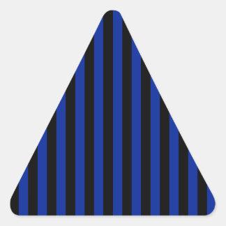 Adesivo Triangular Listras finas - pretas e azul imperial