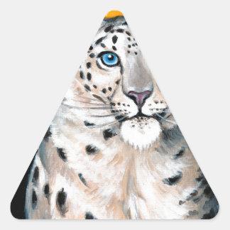Adesivo Triangular Lua do leopardo de neve
