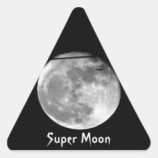 Adesivo Triangular Lua super com a passagem do avião/customizável!