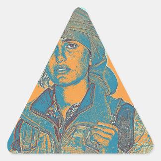 Adesivo Triangular Lutador curdo 6 de YPJ