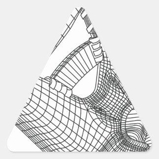 Adesivo Triangular luva de basebol