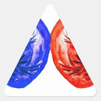 Adesivo Triangular Luvas de encaixotamento