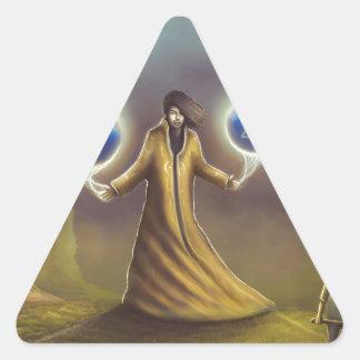 Adesivo Triangular mágica da fantasia do feiticeiro